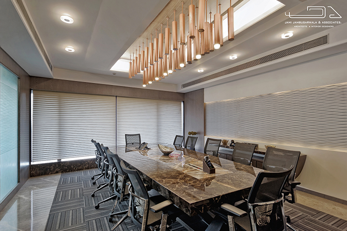 office ceiling design. The 12 Seater Boardroom Located Next To Director\u0027s Cabin Overlooking A Breathtaking View Of Business Hub Bandra-Kurla Complex, Has Been Designed Office Ceiling Design